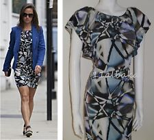BNWT WAREHOUSE PURE SILK ABSTRACT MULTI PRINT DRESS SIZE UK6 ASO