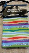 New Cross Body Nylon Bag Small Striped 4.5 x 7 inch Multi-Color Multifunctional
