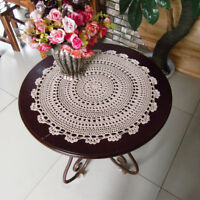 4Pcs/Lot White Vintage Hand Crochet Cotton Doilies Round Lace Table Topper 13""
