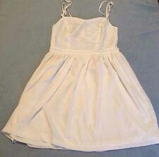 Supre Size M/12 Cream Strappy Open Cross Back Mini Dress BNWT