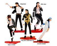 "Set of 5 pcs Michael Jackson Memorabilia 5"" MJ King of Pop Cake Toppers Figures"