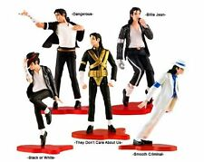 "Set of 5 pcs Michael Jackson Memorabilia 5"" MJ's Classic Post Figures NEW BULK"