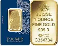 Three (3) 1 oz PAMP Suisse Gold bars - new in assay cards - FREE shipping