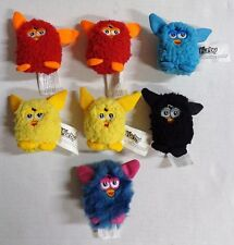 """Hasbro Furby Flingers Pencil Toppers Finger Puppets Plush 3"""" Lot of 7 2013"""
