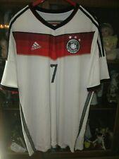 GERMANY ADIDAS WORLD CUP 2014 HOME SOCCER JERSEY SHIRT #7 BASTIAN SCHWEINSTEIGER