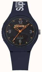 Superdry Urban Men's Silicone Blue Dial quartz Watch SYG254U