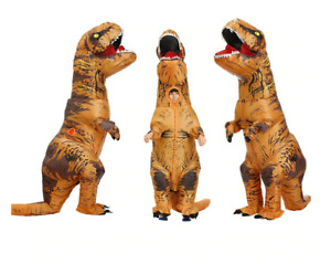 Inflatable Dinosaur Dino Adult T-REX Costume Blowup Funny Cosplay Mascot Suit