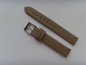 Uhrband Leder grau 14 mm zum anschrauben für z.B. SKAGEN BERING BOCCIA OBAKU