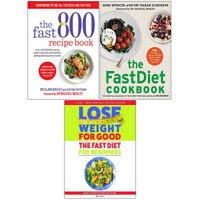 Fast 800 Recipe Book, Fastdiet Cookbook, Fast Diet For Beginners 3 Books Set NEW