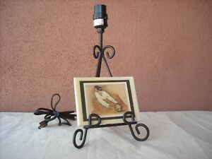 Tabletop Accent Lamp Base in Tripod Easel Shape
