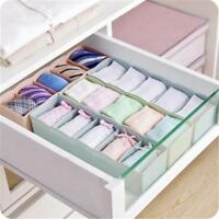 5 Grid Storage Boxes Bra Underwear Socks Ties Closet Organizer Drawer Divider