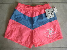 NOS NEW Vintage OP OCEAN PACIFIC Pink Board Beach Swim Trunks SHorts EXTra SMALL