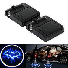 2X Wireless LED Car Courtesy Door Logo Shadow Laser Projector Light batman Lamp