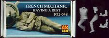 Copper State Models 1/32 FRENCH WWI MECHANIC HAVING A REST Resin Figure