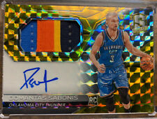 DOMANTAS SABONIS 2016-17 PANINI SELECT GOLD 4 COLOR PATCH ROOKIE AUTO RPA /10