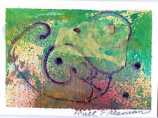 """ACEO """"ABSTRACT LANDSCAPE"""" BY Ruth Freeman  COLLAGE  2 1/2"""" X 3 1/2"""""""
