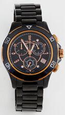 Cerruti DIAMOND Damen Chrono Chronograph Uhr schwarz gold Keramik NEU C3