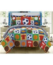Chic Home Shiloh Sports Soccer Bed In a Bag 8-Pc. Reversible Comforter Set Full