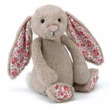 Jellycat Blossom Bashful Bunny Rabbit Teddy Bear Toy Medium 31cm Beige Floral