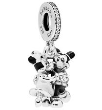 New Pandora Bead Disney Parks Exclusive Dangle Charm Dancing Mickey and Minnie