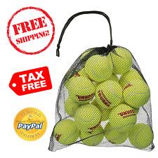Tourna 18 Tennis Balls in Mesh Carry Bag Nylon PressureLess Practice Throwing
