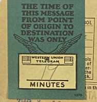 1927 Western Union Time of This Telegraph Poster Stamp Telegram Train Station