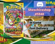 Evolving Skies x 50 Pokemon In-Game Booster Send Fast TCGO PTCGO Online Code