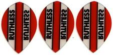 Ruthless Extra Strong Dart Flights - Red Pear Shape