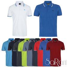 Polo Uomo DIADORA Sport Cotone Piquet Maniche Corte T-Shirt Colorate Righe