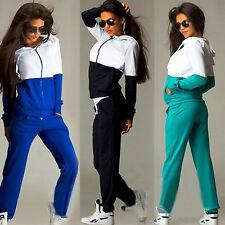 Women 2Pcs Tracksuit Hoodies Sweatshirt Top + Pants Set Casual Jogger Sport Suit