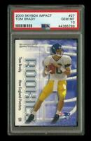 2000 Skybox Impact #27 TOM BRADY RC New England Patriots PSA 10 GEM MINT