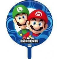 Super Mario Wii Nintendo Mario & Luigi Round Foil Helium Party Balloon Twin Pack