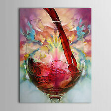 Large Modern Abstract Decor Wall Art Oil Painting Wine Cup Canvas No Frame
