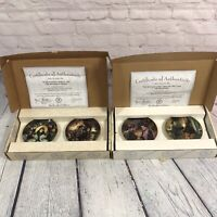4 Gone with the Wind Golden Memories Mini Plates Issue 1-4 w Boxes COA Bradford