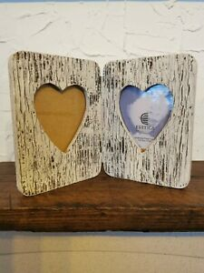 TWO HEARTS PHOTO FRAME. Handmade product. Rustica Art & Decor