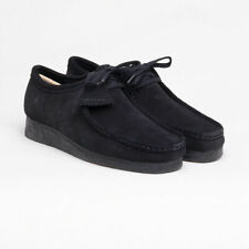 CLARKS ORIGINALS  WALLABEE MENS SHOES BLACK SUEDE 33279