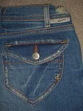 J & COMPANY Wilshire Wide Leg Gaucho Capri Crop Denim Jeans Womens Sz 27 x 17.5