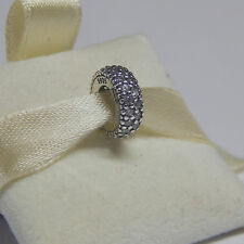 New Authentic Pandora 791359CZ Inspiration Within Spacer W Tag & Suede Pouch