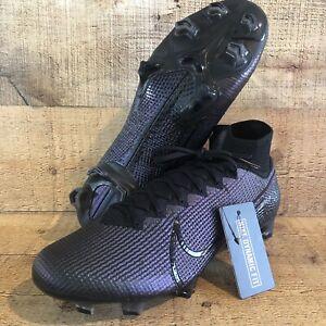 Nike Men's Size 10.5 Black Mercurial Superfly 7 Elite Soccer Cleats AQ4174-010