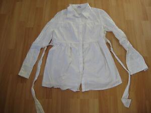 Tunika, M, Schwangerschaft, Bellybutton, Hemd, Oberteil, Bluse, weiß, schwanger