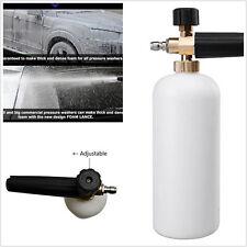 "Adjustable Snow Foam Lance High Pressure Car Washer Soap Gun 1/4"" 1L Wash Bottle"