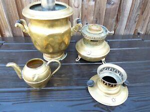 Vintage Turkish Arabic Handcrafted Copper On Coal Samovar Teapot Tea Maker Deco