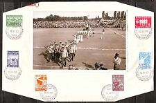 1935 Bulgaria Soccer Footbal 5th Balkan tournament Photo-real+stamps +FD seal RR