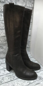 CANTO DE RICCI FIRENZE LADIE REAL BROWN LEATHER KNEE HIGH BOOTS SIZE 5 UK 38EUR