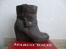 Marco Tozzi Damen Stiefel Stiefeletten Stieflette Boots Keilabsatz braun NEU