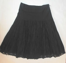 WHITE HOUSE BLACK MARKET WOMENS SKIRTS BLACK KNEE LENGTH ZIPPER SIDE SIZE 8