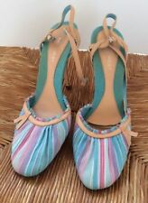 High (3 in. and Up) Party Medium (B, M) Striped Heels for Women