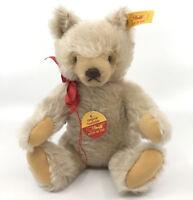 Steiff Mask Orig Teddy Bear Mohair Plush 26cm 10in ID Button Tags 1990s Squeaker