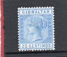 Gibraltar Vic.1889 25c ultramarine sg 26 HH.Mint
