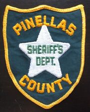 Vintage Pinellas County Florida Police Shoulder Patch Flash USA United States